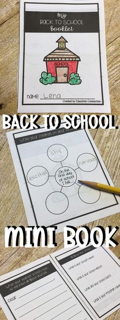 Back to School mini book - Fun activity for the first day of school (or the first week) - Students will describe their feelings, set goals, write a letter to their teacher and more! Back To School Activities, School Resources, Hands On Activities, Learning Resources, Fun Activities, Primary Resources, School Ideas, New School Year, First Day Of School