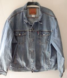 Men's Levi's Standard Trucker Jean Jacket Size XXL Harley-Davidson Patch Denim #Levis #JeanJacket