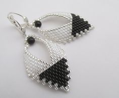 Hey, I found this really awesome Etsy listing at https://www.etsy.com/listing/477079742/russian-leaf-earrings-blackwhite