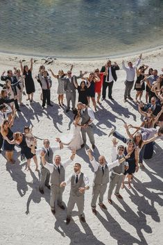 heart wedding photos bride and groom with guests luxlife las vegas photographer