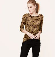 Floral Back Button Pullover - Showered with spiky blooms, a handful of buttons at the back polish this forever wardrobe favorite.