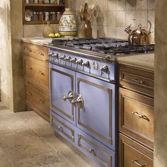 Dreaming…Stove will be the focus of the kitchen…La Cornue CornuFé Stove, Stainless-Steel with Chrome