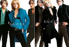 I remember tearing out this ad from Vogue in the 90s as I loved the blue outfit. Still love it.