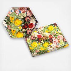 Floral Hexagon Serving Tray | Zola