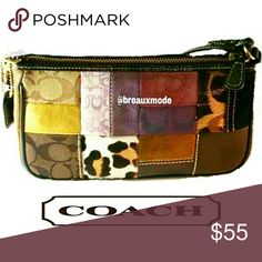 """Coach - Suede Multicolored Patchwork Shoulder Bag This is one of my favorite Coach bags. The multicolored patchwork is unique. This bag has a mix of suede and leather with gold hardware.  There is 1 main zipper pocket with an envelope pocket.  The outside has small signs of wear. The shoulder strap and inside lining of the bag is in excellent condition.  Measurements 8.5"""" length. 4.75"""" height. 2"""" width. 6"""" strap drop. Coach Bags Shoulder Bags"""