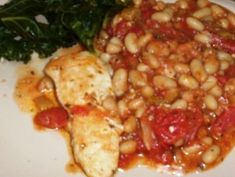 Chicken with Cannellini Beans, Tomatoes & Italian Parsley