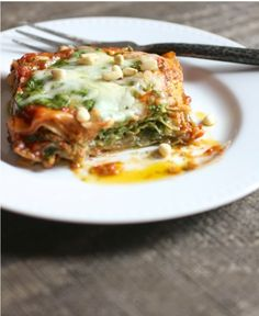 The Italian Dish - Posts - Speedy Mini Lasagna Stacks with Pesto and Marinara Sauce