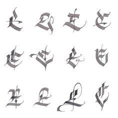 E by alexshimanov Chicano Lettering, Graffiti Lettering Fonts, Tattoo Lettering Fonts, Lettering Design, Monogram Design, Calligraphy Letters Alphabet, Calligraphy Signs, Typography Letters, Typography Logo