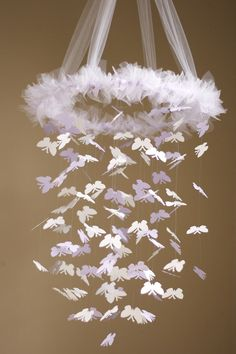 Simply Lavender Butterfly Chandelier Kit - Diy - Great Craft Project