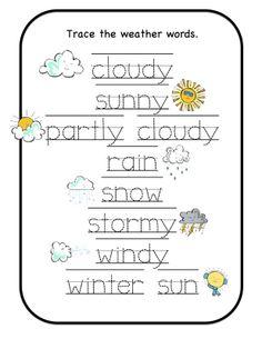 Preschool Printables: Weather