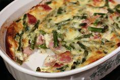 ham asparagus white cheddar strata ericasrecipes 1