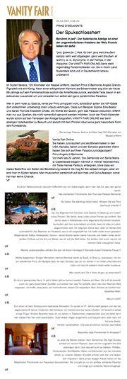 Palazzo Belmonte - Rassegna stampa - Prinz di Belmonte Der Spukschlossherr - Hotel 4 stelle a Santa Maria di Castellabate