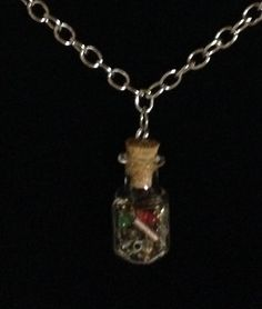 made by Mel - necklace is time in a bottle