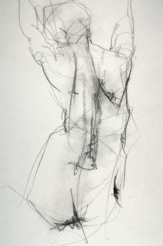 "Saatchi Art Artist: Samuel Bonilla; Charcoal 2013 Drawing ""Sin Miedo a las Alturas"""