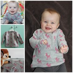 Baby sweater pattern, free in Dutch Sewing Patterns For Kids, Sewing For Kids, Baby Sewing, Clothing Patterns, Baby Sweater Patterns, Baby Kids Clothes, My Little Girl, Baby Sweaters, Sewing Clothes