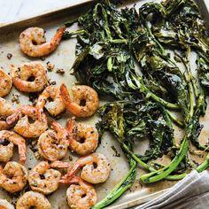 Lemony Shrimp and Broccoli Rabe
