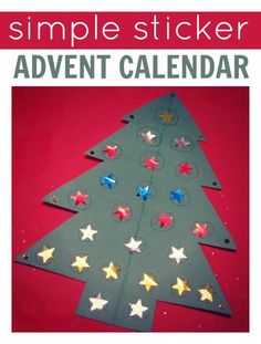 simple and candy free advent calendar.