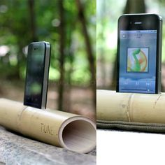 Natural Bamboo Tune Speaker for iPhone 4/5