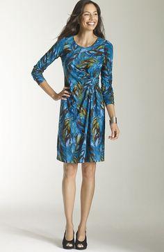 dresses > Wearever printed twist dress at J.Jill. great price!