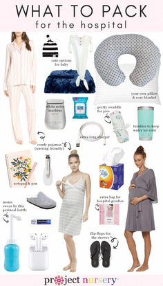 What to Pack for the Hospital - Pregnancy - Schwangerschaft Trendy Baby Clothes, Baby Arrival, Pregnant Mom, Tell Husband Pregnant, 28 Weeks Pregnant, Getting Pregnant Tips, Pregnant Wedding, First Time Moms, What To Pack