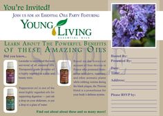 Printable Young Living Party Invitation - Live Everyday with Young Living Essential Oils. $5.00, via Etsy.