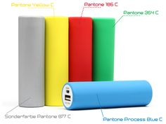 Custom made Creative Power Banks can come in any Pantone color you want. Imagine your possibilities! #powerbank #pantone #colors #mobile #power   Mobile Powerbanks in Sonderfarbe