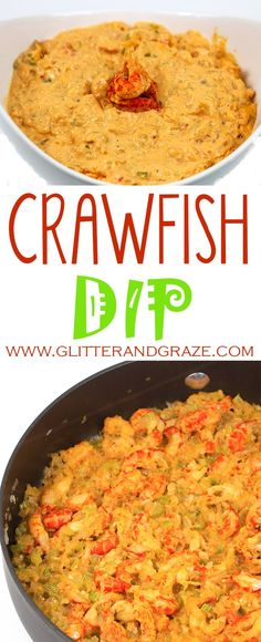 crawfish dip is the perfect appetizer to bring to your next crawfish boil., This crawfish dip is the perfect appetizer to bring to your next crawfish boil., This crawfish dip is the perfect appetizer to bring to your next crawfish boil. Cajun Crawfish, Crawfish Recipes, Seafood Recipes, Cooking Recipes, Cajun Cooking, Seafood Dip, Seafood Appetizers, Appetizer Recipes, Seafood Dishes