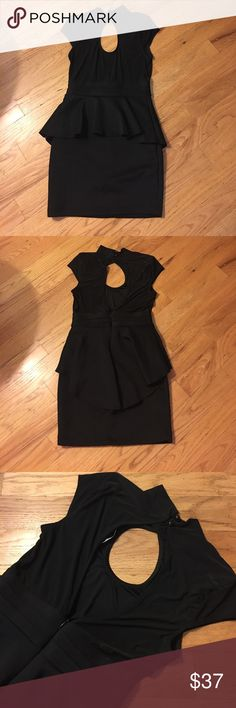 NWOT Peplum Dress Very cute and sweet. Bought for Valentine's Day but ended up wearing something else. Never worn, brand new. See pics for details. Forever 21 Dresses