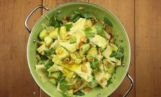 Maggie Beers's famous Verjuice recipes :  Avocado, Ginger and Almond Pasta with Coriander