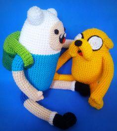 Finn e Jake Adventure Time crochet
