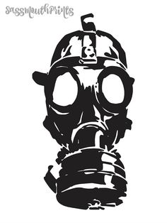 55 best silhuet images on pinterest painting on fabric silhouette Black Oakley Twoface gas mask instant download printable art gas mask print zombie mask clips printable art