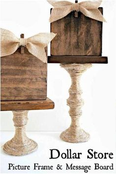 DIY Dollar Tree Farmhouse Decor on a budget! Farmhouse decor has made a huge comeback these days thanks to Joanne Gaines from Fixer Upper on HGTV. She really has a knack for adding farmhouse accents that make your home look amazing. Luckily for us, we can get decorate our homes with the farmhouse style without breaking the bank with these DIY dollar store farmhouse decor tutorials! #homedecor #DIY #farmhouse #decor #dollartree #dollarstore