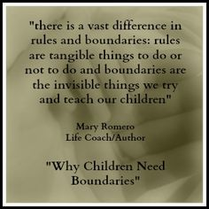 """Why Children Need Boundaries"" with Mary Romero, looks at the necessity of physical and emotional boundaries by parents~ ""to be the parent and not the friend""~ for a child to feel safe and loved. http://www.latalkradio.com/Players/Lon-092412.shtml"