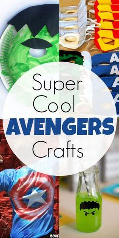 7 Super Cool Avengers Crafts | Blissfully Domestic