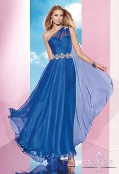 Alyce 35607 BDazzle One Shoulder Gown