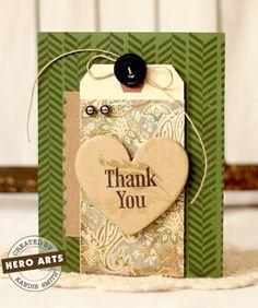 Hero Arts Cardmaking Idea: Thank You