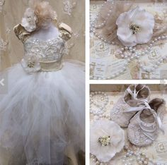Beatriz//Silk and Lace Christening tutu by ElenaCollectionUSA