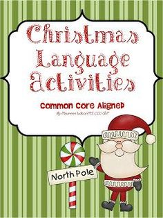 Christmas language activity for speech therapy