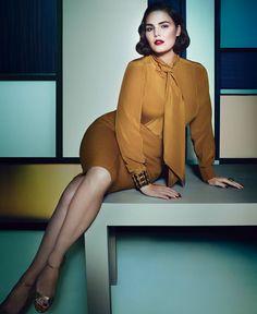 She's gorgeous.  Marina Rinaldi Fall 2012 Campaign