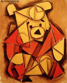 The modern art unit of our class was by far my favorite. Pooh Bear was my favorite childhood character and I found this little cubist representation of him ...