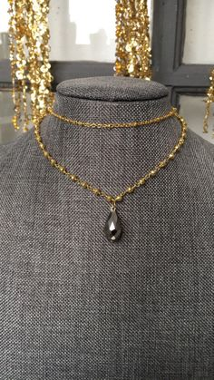 A personal favorite from my Etsy shop https://www.etsy.com/listing/484793540/pyrite-golden-rosary-choker-necklace