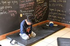 Prayer room in a Guatemala children's home. (Put one chalkboard wall in prayer room for reminders/study?)