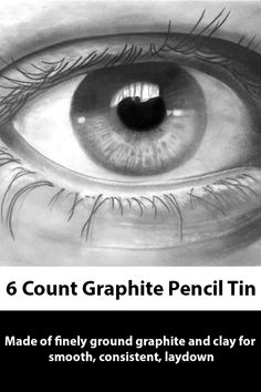 Versatile graphite pencils for art and sketching. Strong break-resistant leads are made of finely ground graphite and clay for smooth, consistent laydown. An excellent value for art students and aspiring artists. Art Students, Creative Studio, Graphite, Sketching, Tin, Pencil, Smooth, Clay, Strong