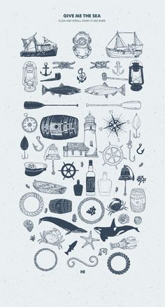 Give Me The Nautical Hand Drawn Pack by Vintage Voyage Design Co. on @creativemarket
