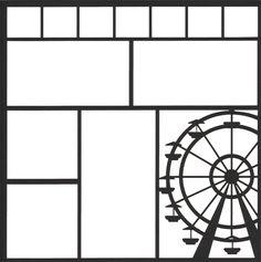 Ferris Wheel 12 x 12 Overlay Laser Die Cut