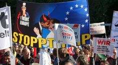 germany trade union protest by masses