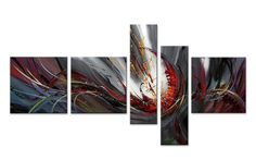 Abstract Color Fusion Canvas Oil Painting | 5 Panel | 371