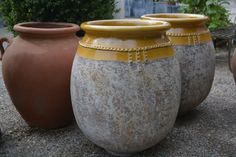 French terracotta olive jars. via dirt simple