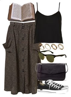 Untitled #5521 by rachellouisewilliamson on Polyvore featuring Topshop, Zara, Converse, Ray-Ban and ASOS