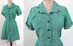 Vintage 1950s 50s // Crisp GIRL SCOUT by foreverlovelyvintage, $38.00
